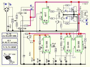 500VA Pure Sine Wave Inverter Circuit