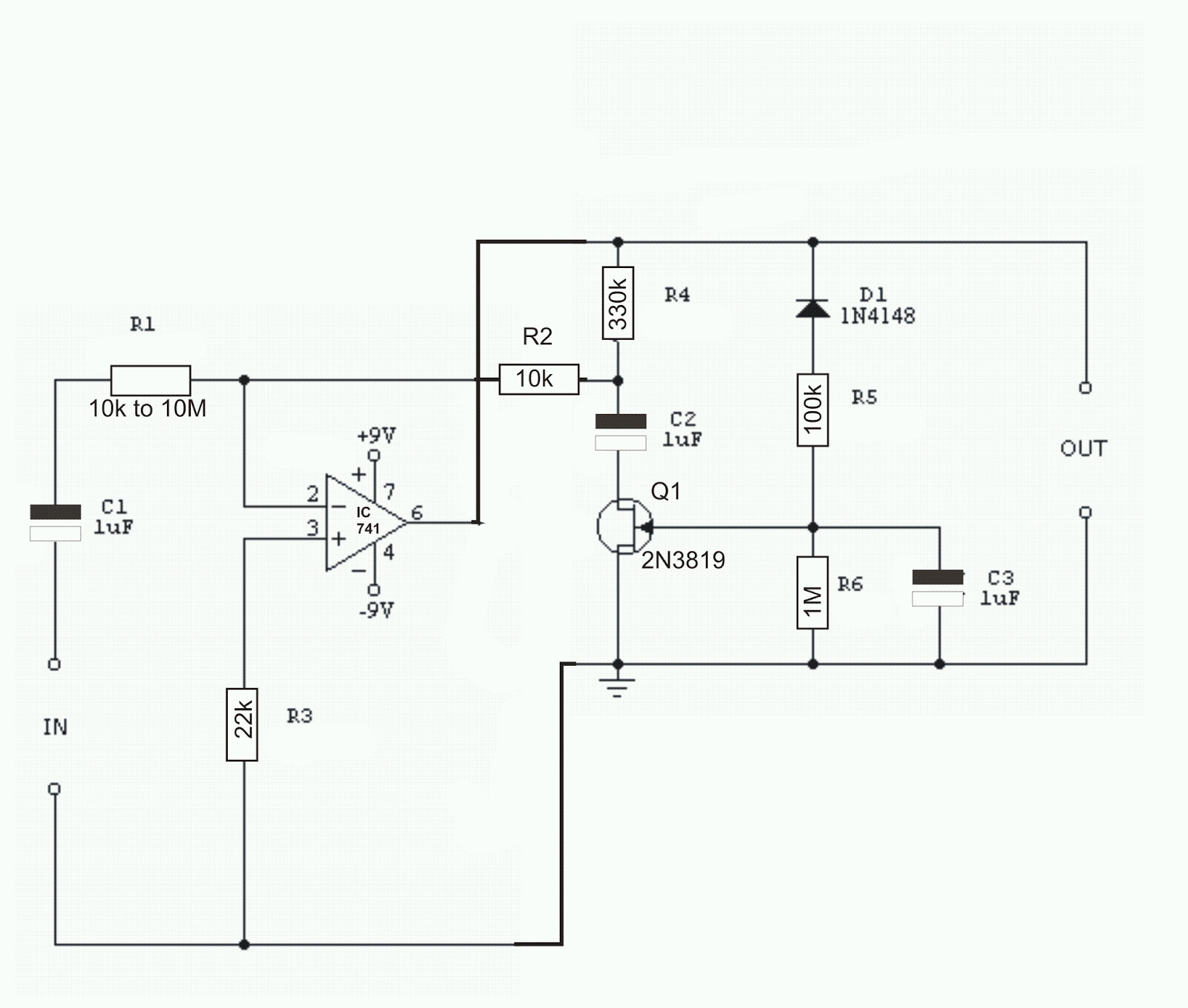 Constant Volume FET Amplifier Circuit