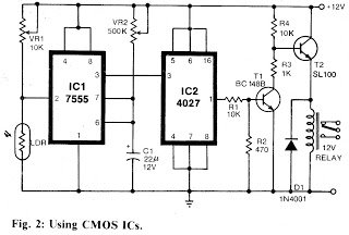 Flashlight Controlled Remote Control Switch Circuit