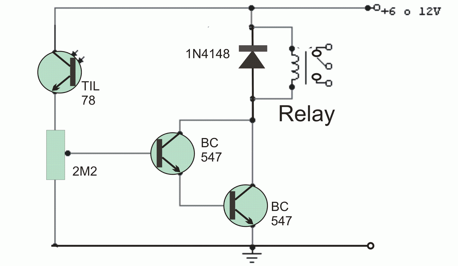 Light Operated Relay Circuit - Relay Circuit With Transistor