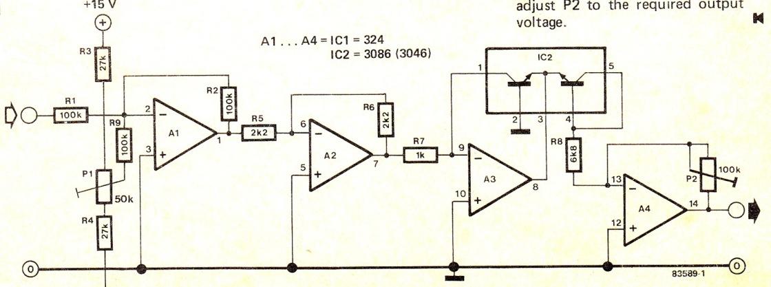 Simple Logarithmic Amplifier Circuit