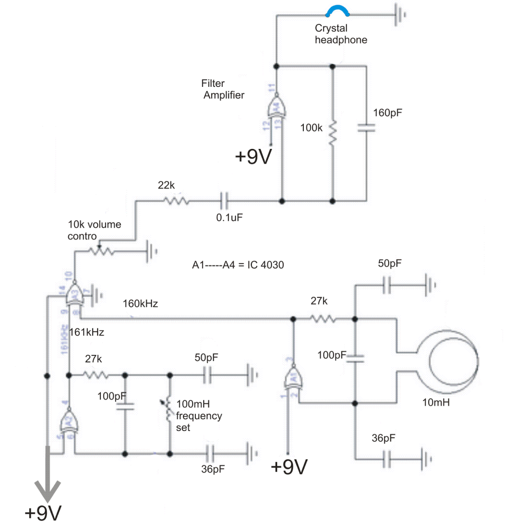 Diy Metal Detector Coil Sensor Circuit Page 13 Sensors Detectors Circuits Nextgr Simple