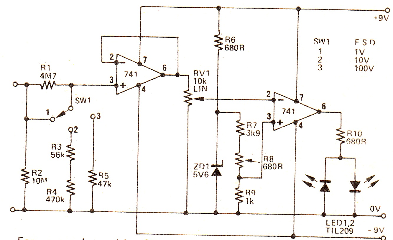 Simple Voltmeter Diagram Top Of Precision Multimeter Schematic Rh Com Dc With