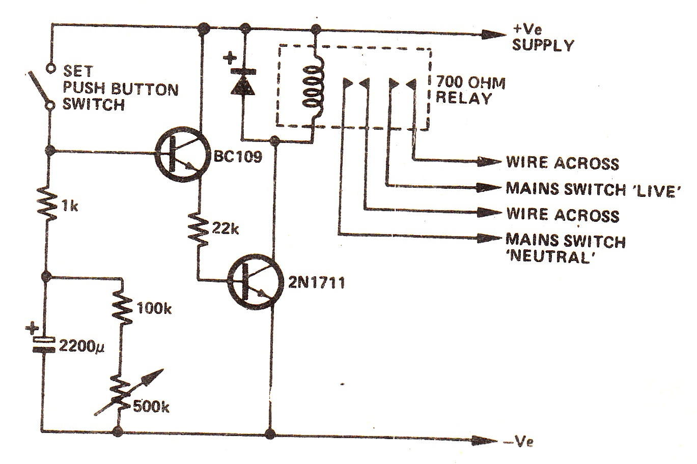 Simple Delay Off Alarm Circuit Rangkaian Step Forward Control Button Circuitdb Snoozetimerdelaycircuit