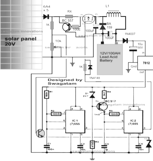 PWM Solar Charger Circuit