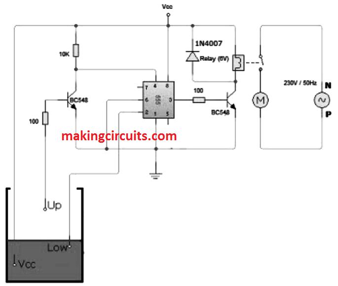 Water Level Control Circuit Using Relays Wiring Diagram Database