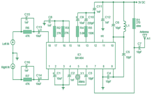 Simple Stereo FM transmitter circuit
