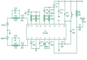 stereo fm transmitter circuit