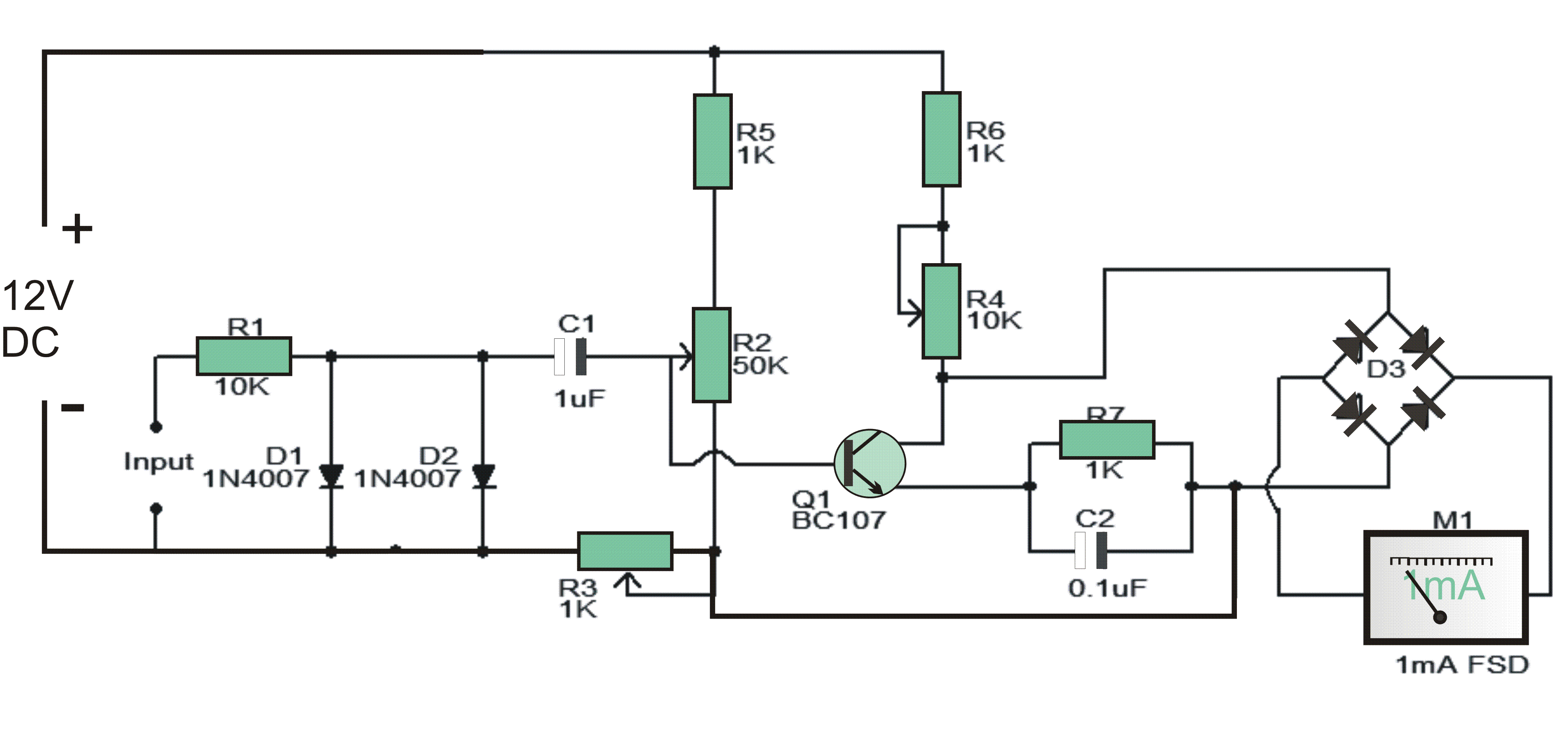 Simple Tachometer Circuit on capacitor wiring diagram