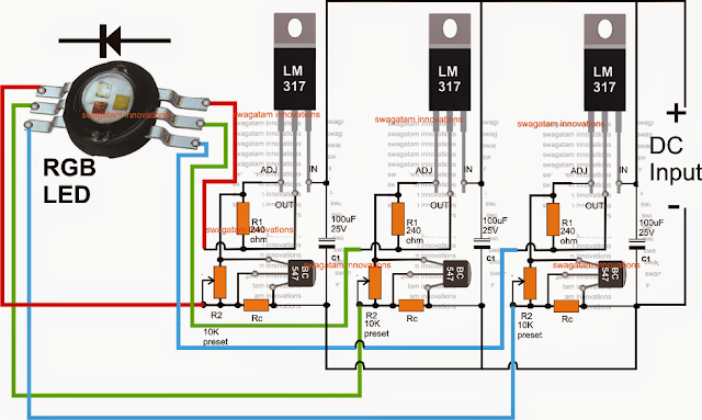 RGB LED Driver Circuit Rgb Led V Wiring Diagram on