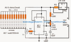 LED Light Dimmer Using PWM