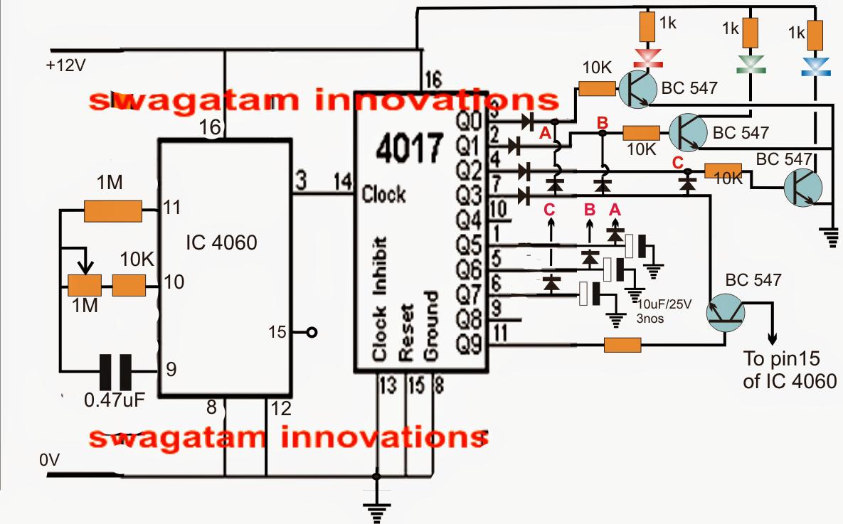 Red, Green, Blue (RGB) LED Random Flasher CircuitMaking Easy Circuits