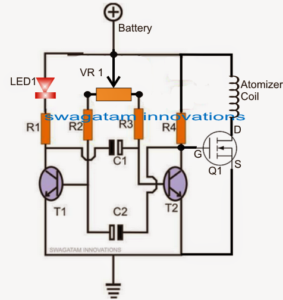 Atomizer Coil Temperature Controller Circuit