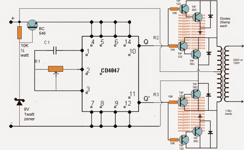 How To Build A 48v Inverter Circuit