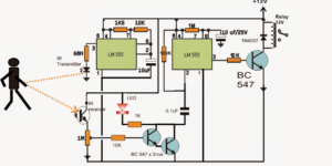 How to make a Proximity Detector Circuit Using IC 555