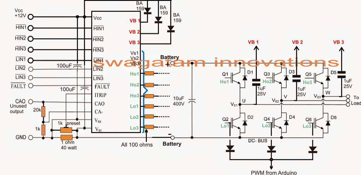How to Make a Sinewave Inverter Circuit Using Arduino