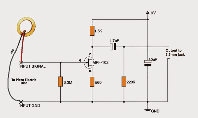 Schematic Symbol For Buzzer further Light Fence Security Beeper also Diy Contact Mic Circuit together with Watch additionally Alarm Circuit With Transistors. on build a piezo buzzer