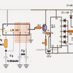 IR Remote Controlled Door Lock Circuit
