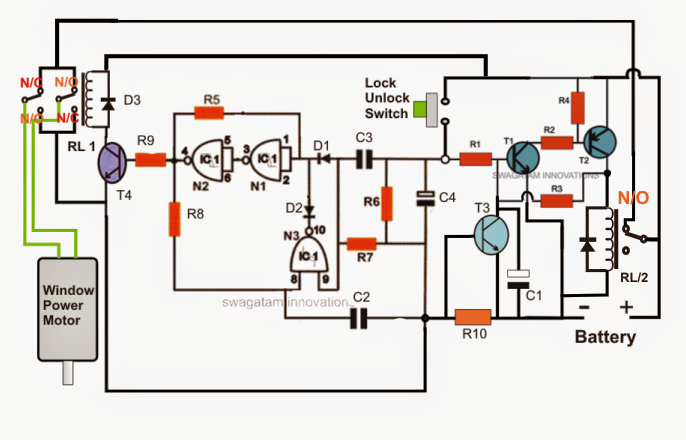 How To Build A Car Power Window Controller Circuit Part 1