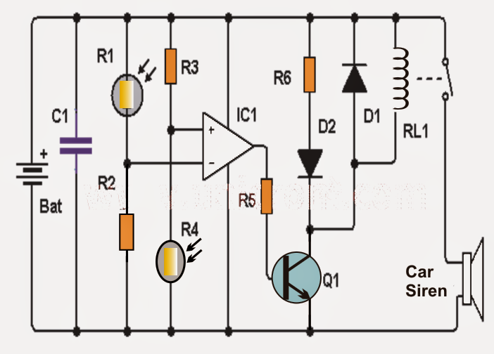 how to make a simple shadow detector circuit