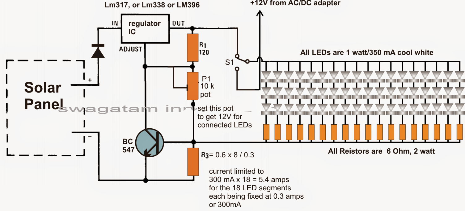 How To Make A Home Solar Electricity Set Up Circuit For An