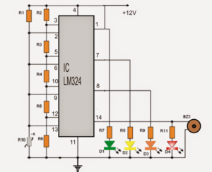 How to Make a 4 LED Temperature Indicator Circuit