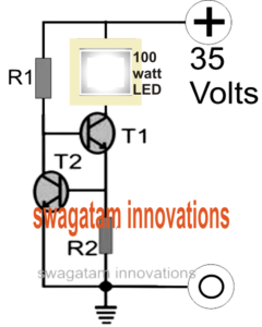 100 watt Current Controlled LED Driver Circuit
