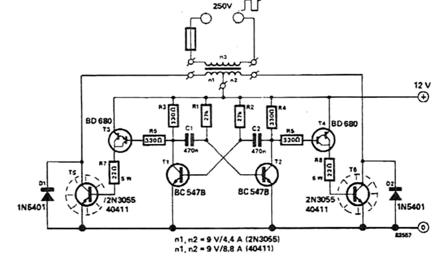 100 Watt Sine Wave Inverter Circuit Diagram Modern Design Of Dc To Ac Power Schematic How Build A Simple Using 2n3055 Transistors Rh Makingcircuits Com 60w