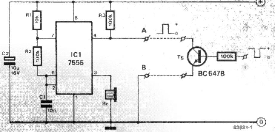 keyboard beep circuit