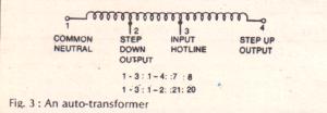 simple auto transformer circuit