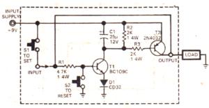 simple all purpose latch circuit using transistors
