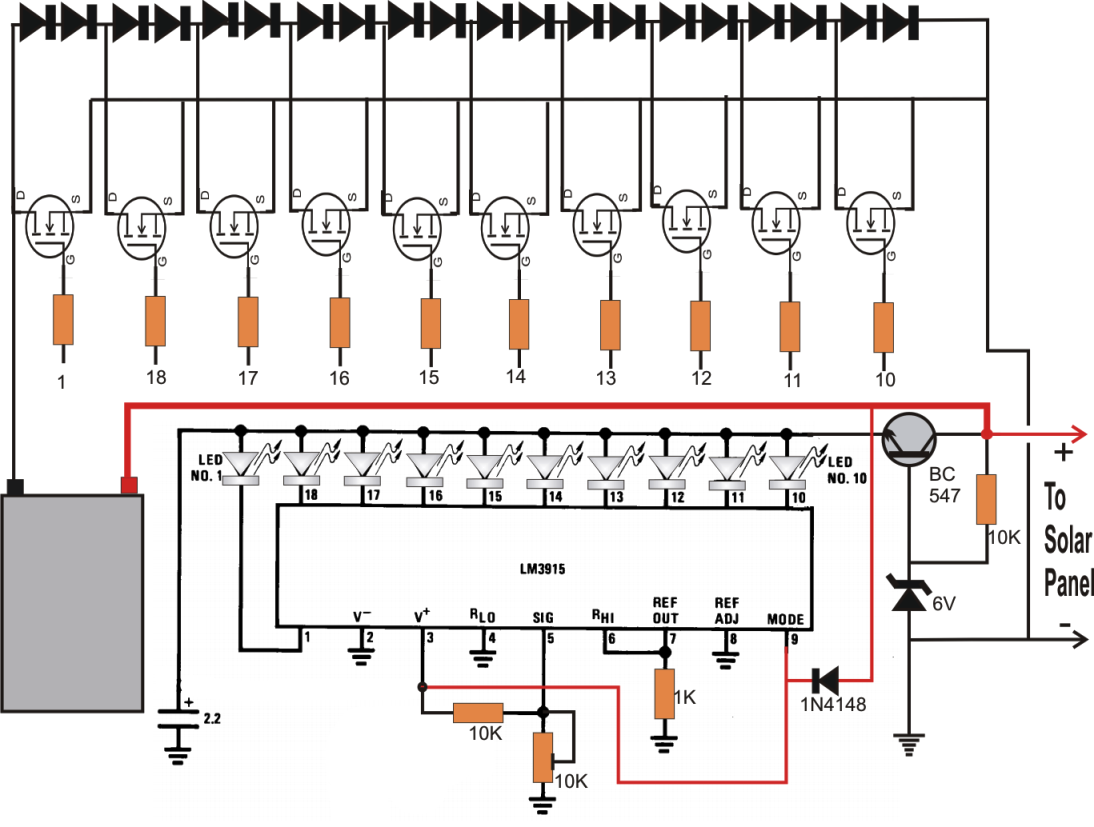 Li Ion Battery Solar Charger Circuit Diagram Difference Between Tracker And Mppt Making Easy