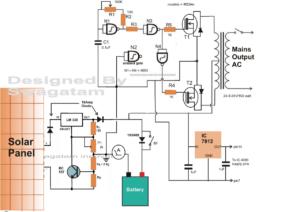 Simple Solar Inverter Circuit