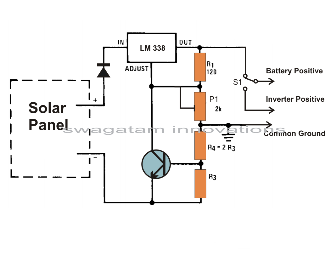 simple solar battery charger circuit