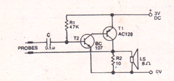 Simplest Water Level Controller Circuit with Buzzer
