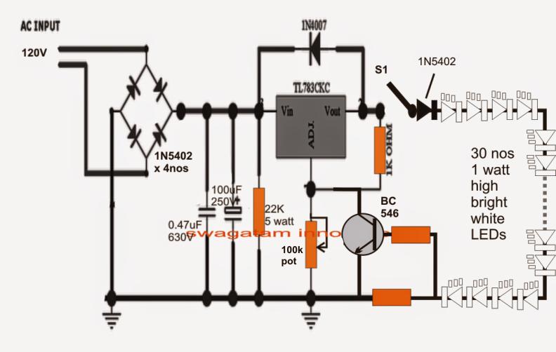 transformerless 110v tube light circuit rh makingcircuits com