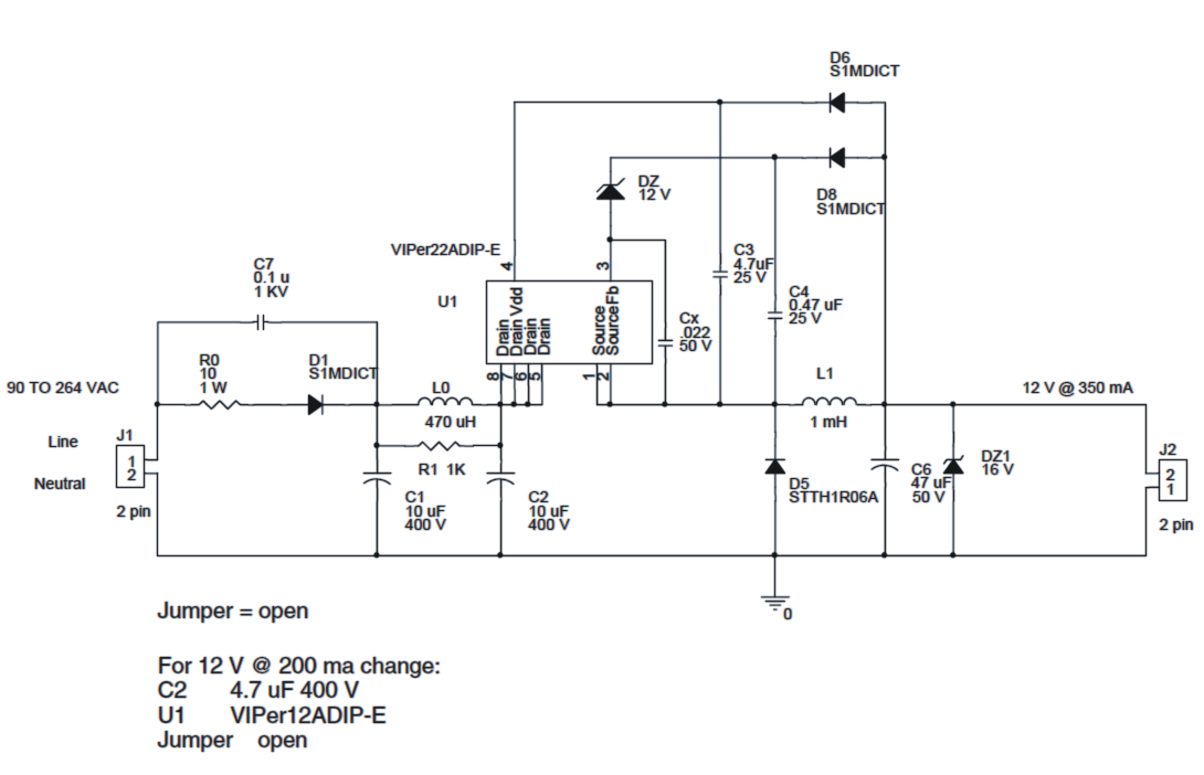 4 to 12 watt smps led driver circuit 1 1w, 4w, 6w, 10w, 12w led driver circuit smps led drivers diagram at fashall.co