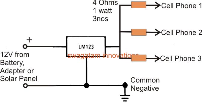 5v 3 amp fixed voltage regulator circuit using ic lm123 lm323 rh makingcircuits com