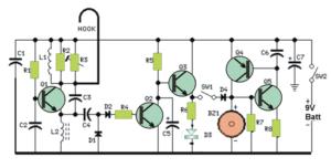 door knock alarm circuit
