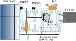 Make this Garden Solar LED Circuit