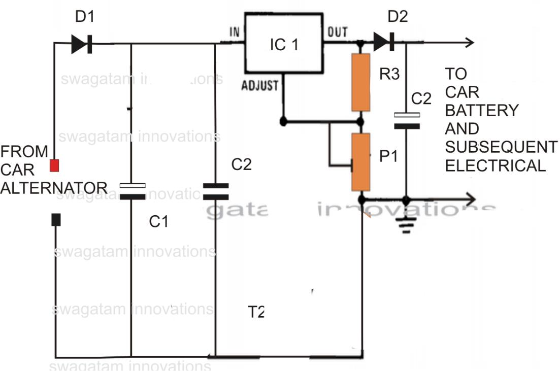 Car Voltage Stabilizer Circuit Picture Of Versatile Regulator With Lm317 10 Amp