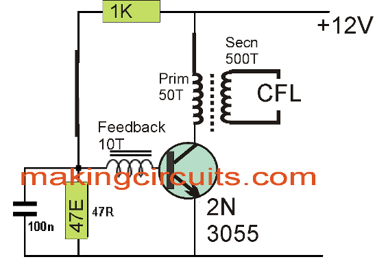 20 watt, 5 watt Fluorescent Lamp Inverter Circuit