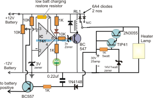 Incubator Heater Backup Circuit with Charger