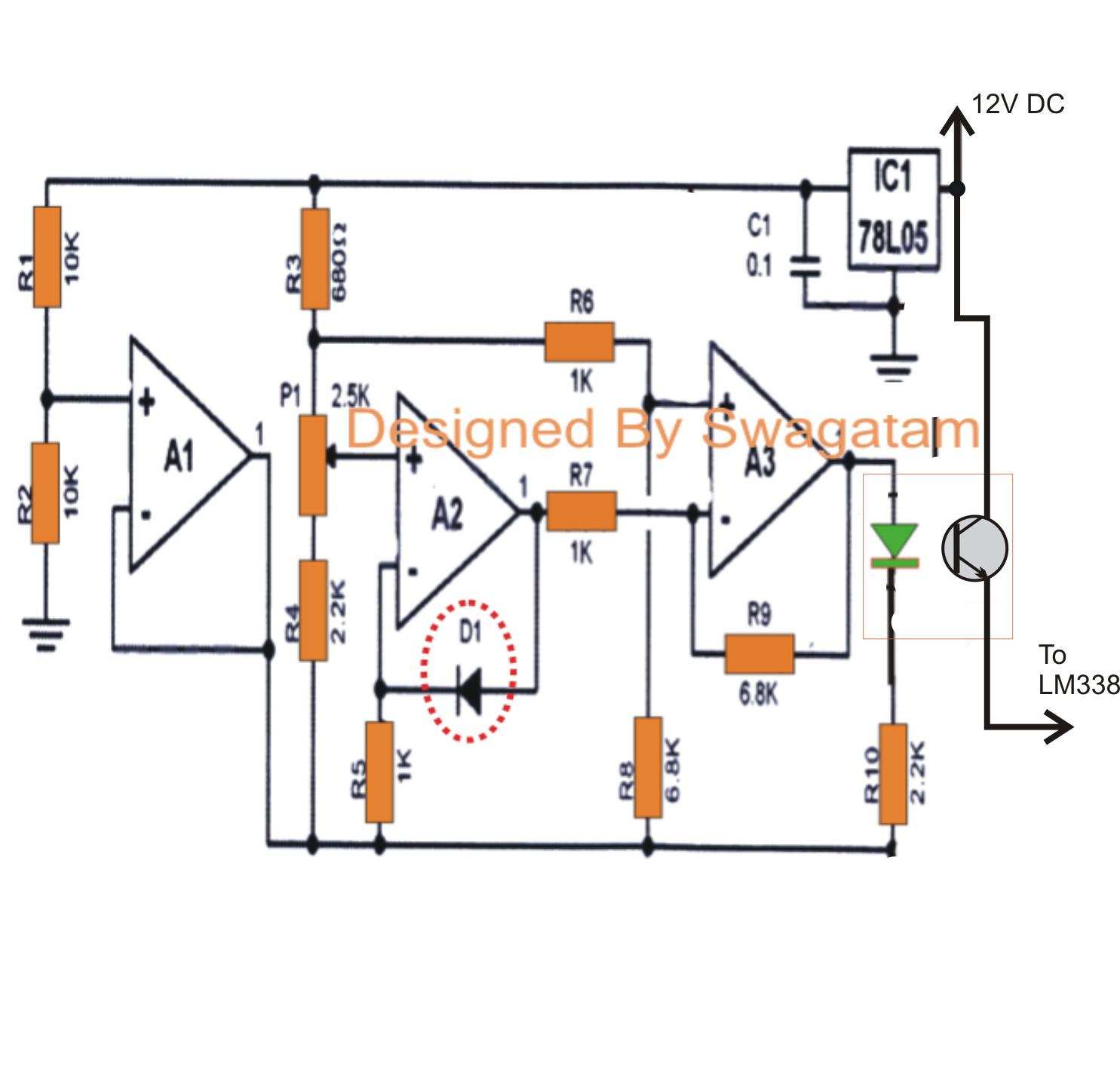 Digital Thermometer Circuit Diagram Using Ic741