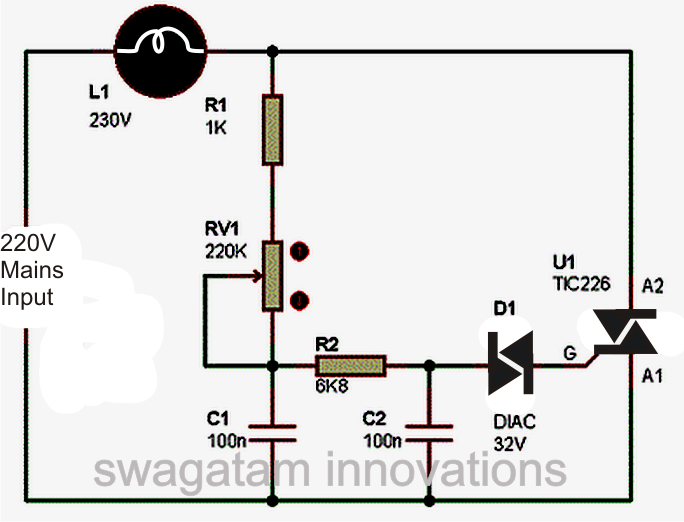 Excellent Dimmer Switch Circuit Diagram Diagram Data Schema Wiring 101 Cranwise Assnl