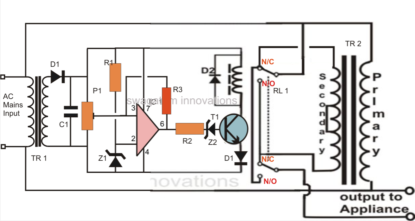 Circuit Diagram Voltage Stabilizer Wiring Library