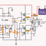 IC TL494 PWM Modified Sine Wave Inverter Circuit