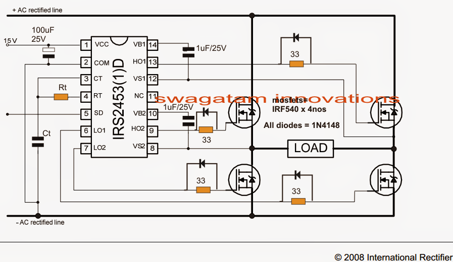 Transformerless H-Bridge Inverter Circuit