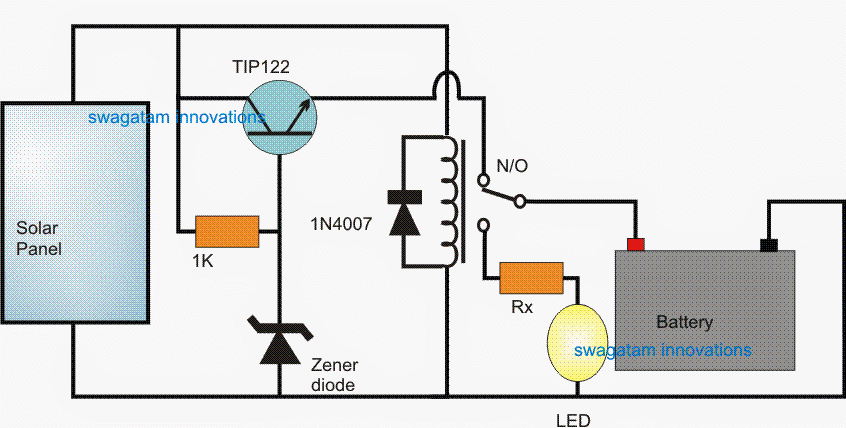 Simple Led Solar Light Circuit Making Easy Circuits