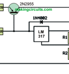 Increasing LM317 Current with a Transistor
